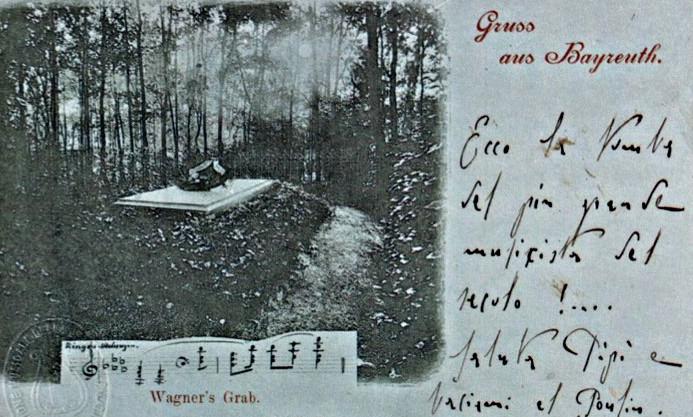Toscanini's postcard of Wagner's grave